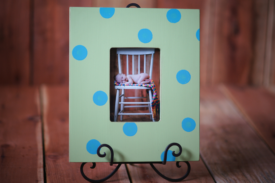 Shabby Chic Frame on Display Easel